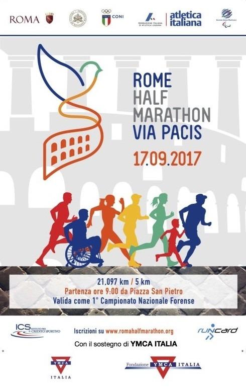 ROME HALF MARATHON VIA PACIS 17.09.2017